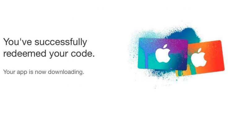 apple store redeem code legal